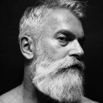 Bearded a white hair