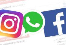 facebook, Instagram, Whatsapp server down